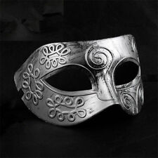 Vintage Mens Antique Silver Gold Masquerade Venetian Halloween Ball Party Mask