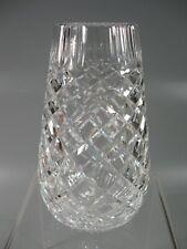 """Vintage Crystal Vase 7-1/8"""" Acid Etched Mark"""