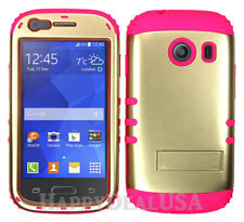 For Samsung Galaxy Ace Style S765c - KoolKase Hybrid Cover Case - Gold (P)
