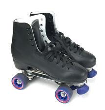 Chicago Roller Skates Quad Black High-Top Blue Wheels Euc 2014 Men's 13