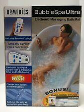 Homedics BubbleSpa Ultra Electronic Massaging Bath Mat /w Brush Bonus #Bmat-3
