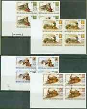 Central African Republic 1979 Hill/Train proof blocks-1
