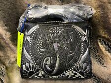 Versace Jeans Black w/ Silver VJ Embroidered Strap Shoulder Handbag