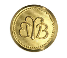 """Brooks Brothers Double BB  Gold tone Metal Main Replacement Button .80"""""""