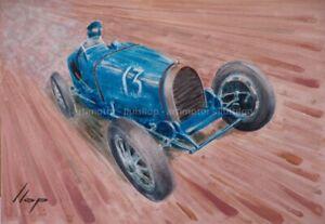 Artimotor - Fine Art Print 33x48 / 1930 Bugatti T35 GP