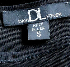 DAVID LERNER BlackVelvetSheerRearFigureHuggingShortSzS rrp+US$200