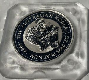 1997 $100 Australian Koala 1 oz .9995 Platinum in it's original casing FROM MINT