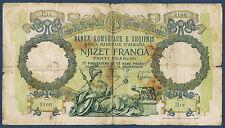 ALBANIE - 20 FRANGA Pick n° 7 de 1939 non daté en TB B 12 2160