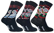 2 Pack Mens Fun Funky Colourful Cotton Rich Novelty Christmas Socks for Gift