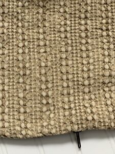 Pottery Barn Pillow Cover Tan Neutral Textured Lined 18 X 18