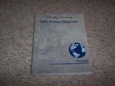 2001 Ford Escape Electrical Wiring Diagram Manual XLS XLT 2.0L 3.0L V6 4Cyl