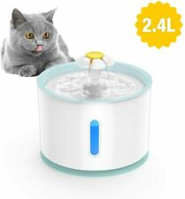 2.4L Automatic Electric Pet Water Fountain Cat Dog Health Drinking Dispenser LED