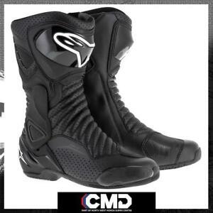 Alpinestars SMX-6 V2 Sports Racing Motorcycle/Motorbike Boots Black/Black