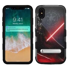 "for Apple iPhone Xs Max (6.5""), Hard+Rubber Rugged Case Star Wars Darth Vader #S"