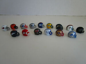Mini Kenner Starting Lineup SLU NFL FOOTBALL HELMET Open Loose Lot of 15 Teams