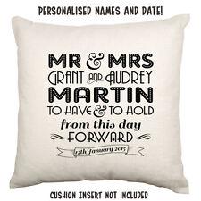 Mr Mrs Wedding Engagement Anniversary Love Personalised Custom Cushion Art Deco