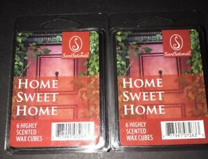 SCENTSATIONALS Scented Wax Cubes HOME SWEET HOME / 2 Packs / 2.5 Oz Each