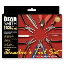 Beadsmith 9-Piece Deluxe Jewelry Pliers Ergonomic Tool Kit with Case ER9SET