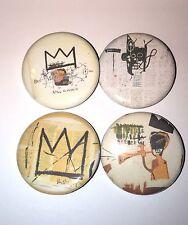 """Set of 4 1.25"""" Buttons Basquiat design Street Pop Art New York City Jean-Michel"""