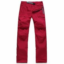 Women's Detachable Pants Shorts for Outdoor Hiking Trekking (Red, Size S)