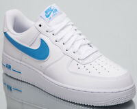 Nike Air Force 1 '07 3 Men's New White University Blue AF1 Sneakers AO2423-100