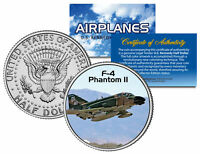 F-4 PHANTOM II * Airplane Series * Kennedy Half Dollar Colorized US Coin