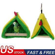 Pet Bird Parrot Warm Hammock Cage Hut Parakeet Budgie Tent Bed Hanging Cave Us