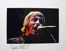 Original hand signed photo of Paul Weller 11.9 x 8 in mounted by Mel Longhurst