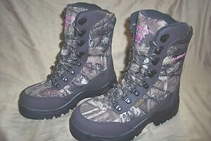 Womens 7 Hunting Boots Camo Boots Insulated Waterproof Scentproof Hunting Boots