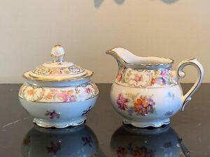 Schumann Arzberg Germany Empress Creamer and Sugar Bowl