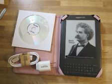 "Amazon Kindle Keyboard 3rd Gen Wi-Fi 6""  1400 Books on CD-No Ads-Bundle-Mint"