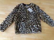 ZARA girls leopard pattern faux furry autumn winter jacket coat AGE 11 - 12 YEAR
