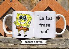Tazza ceramica SPONGEBOB 5 CON FRASE PERSONALIZZATA ceramic mug