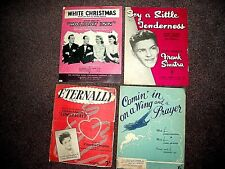 4 vintage piano music.Famous songs -White Christmas,Eternally,Crosby,Sinatra,etc