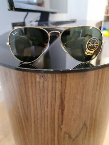 Authentic Ray-ban RB3025 Aviator Large Metal G-15 Sunglasses BRAND NEW