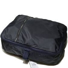 "NEW Ferragamo Navy Blue Medium Packing Cube 15"" Storage Bag Luggage Organizer"
