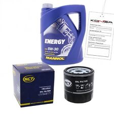 Inspektionskit MANNOL Energy 5W-30 für Toyota Celica 2.0i 16v Yaris 1.0 Camry