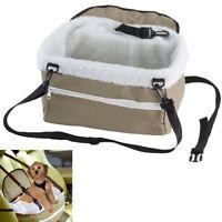 Pet Booster Seat Lookout Car Safety Dog Carrier Leash Belt Adjustable Travel !