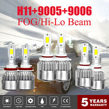 Combo 9005 + H11 + 9006 3900W 585000LM LED Headlight Kit COB Hi Low Bulbs 6000K