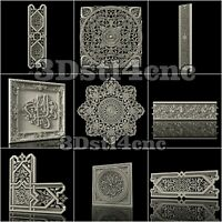 9 3D STL Models Arabic Decor for CNC Router Carving Machine Artcam aspire