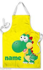PERSONALIZZATO cartone Dinosauro bambini grembiule cottura al forno acqua
