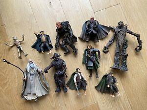Lord of the Rings ToyBiz Action Figures Bundle x10 Eowyn Treebeard Saruman Orc