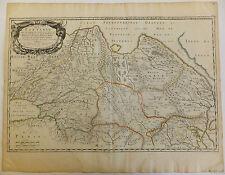Tartarie Sibérie carte gravée par Sanson d'Abbeville 1654 XVIIème siècle