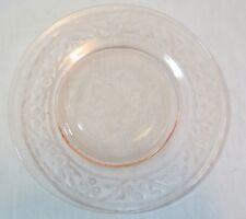 "Hazel Atlas Cloverleaf Pink Depression 8"" Luncheon Plate(s)"