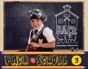 BTS3 Back to School Digital Backgrounds Backdrops Template Children Props Frame