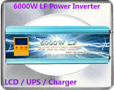 24000W/6000W LF Pure Sine Wave 24VDC/230VAC 50HZ Power Inverter LCD/UPS/Charger