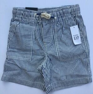 Toddler Boys GAP Blue Stripe Cotton Shorts Pull On Ages 2, 3 or 4