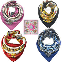 Silk Scarf for Hair Scarf  Women's Fashion Pattern Large Square Satin Headscarf