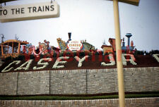 Casey Jones RR  Circus Special Train Disneyland 1958 Kodak 35mm Slide