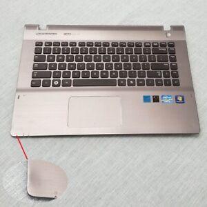 Genuine Samsung NP-QX411-W02UB Palmrest w/Touchpad Keyboard Speaker BA75-03195B
